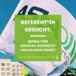 AStA-Referent*in gesucht: Referat für Soziales, Diversität und Nachhaltigkeit