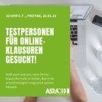 [DRINGEND] Testpersonen für Online-Klausurformate gesucht!