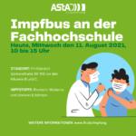 Impfbus an der Fachhochschule